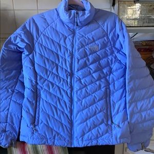 North Face blue 550 down jacket like new.